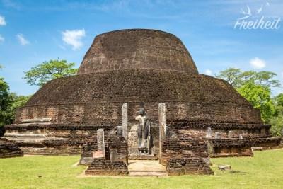 Pabalu Vehera - eine ungewöhnlich geformte Stupa aus dem 12. Jahrhundert