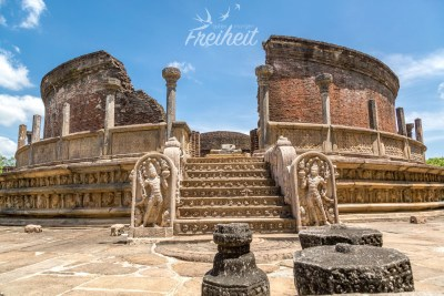 In diesem Rundtempel, Vatadage genannt, wurde früher ein Zahn Buddhas aufbewahrt. Mittlerweile ist dieser im Zahntempel von Kandy zu finden