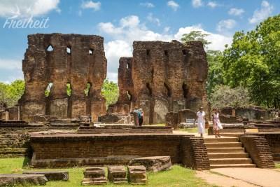 Die Reste des Königspalasts - angeblich mal 7 Stockwerke hoch