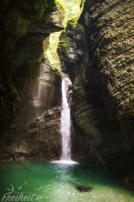 ...und tadaa: der Kozjak Wasserfall