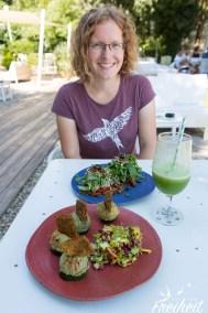 Lecker Essen im rohköstlichen Restaurant Garden Lounge