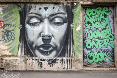 Tolles plastisch wirkendes Graffiti