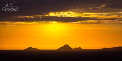 Da bahnt sich doch ein schöner Sonnenuntergang an