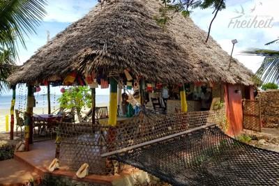Das Restaurant mit Blick aufs Meer