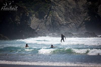 Wieder ein beliebter Strand für Surfer
