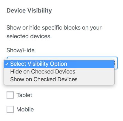 Block Device Visibility Option