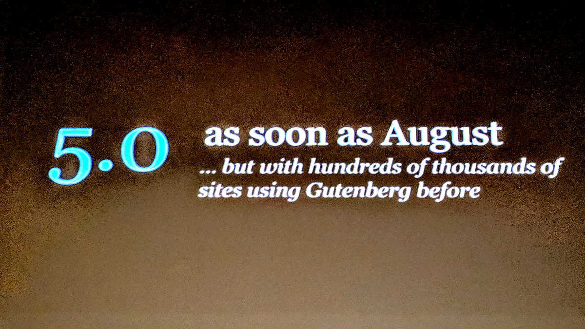 Mullenweg announced Gutenberg Roadmap