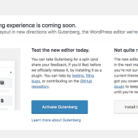 "Update: ""Try Gutenberg"" Call-out available in WordPress  4.9.8"