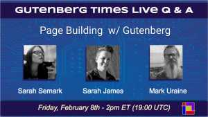 Gutenberg-Times-Live Q & A Semark, James, Uraine