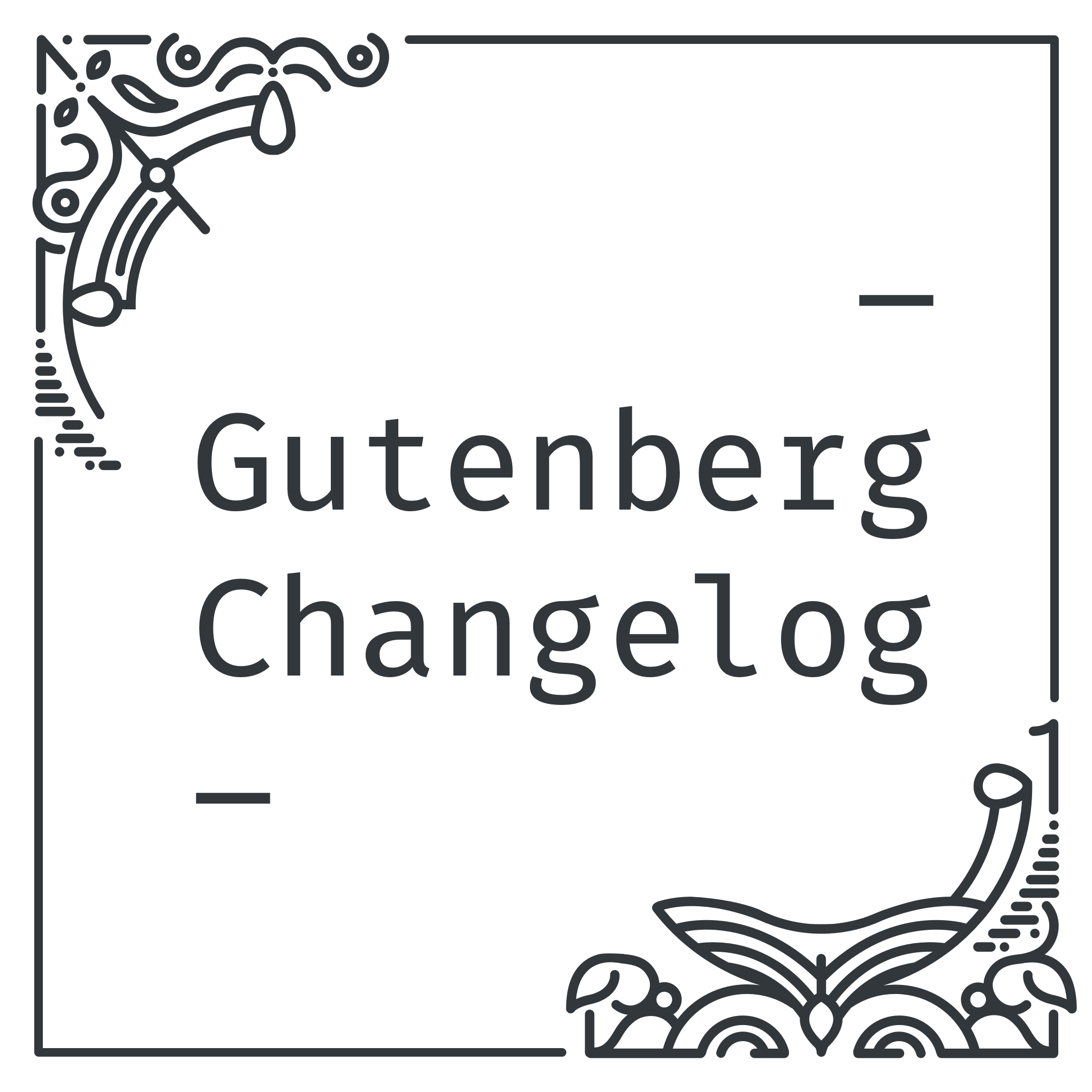 Cover Art: Gutenberg Changelog
