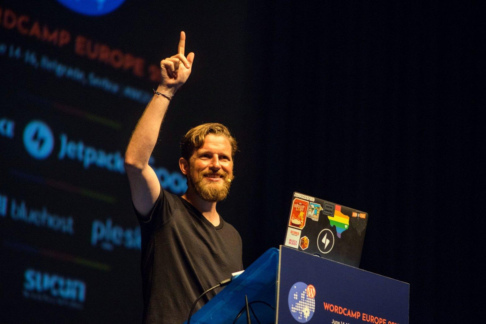 Matt Mullenweg announce Gutenberg Roadmap at WordCamp Europe