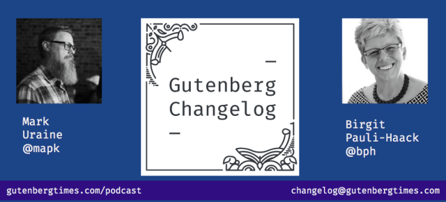 Changelog Cover graphic, w/ Birgit Pauli-Haack and Mark Uraine