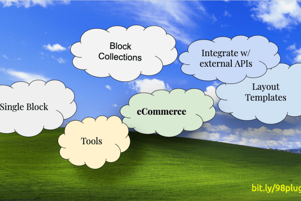 Cover Image: Landscape with clouds and plugin categories