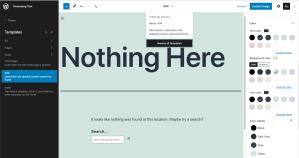 WordPress Site Editor Beta Screenshot Dec 2020 TT1Blocks