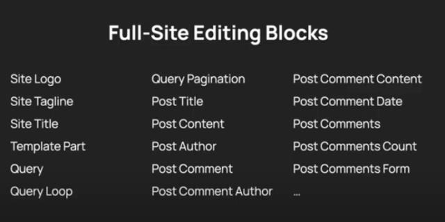 Full-Site-Editing Blocks for Theme developers