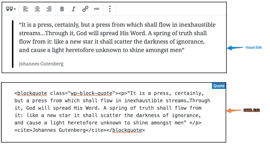 HTML and Visual , Gutendev, Gutenberg