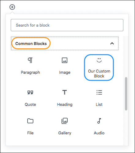 Gutenberg tutorial, Our Custom Block, gutendev, gutenberg