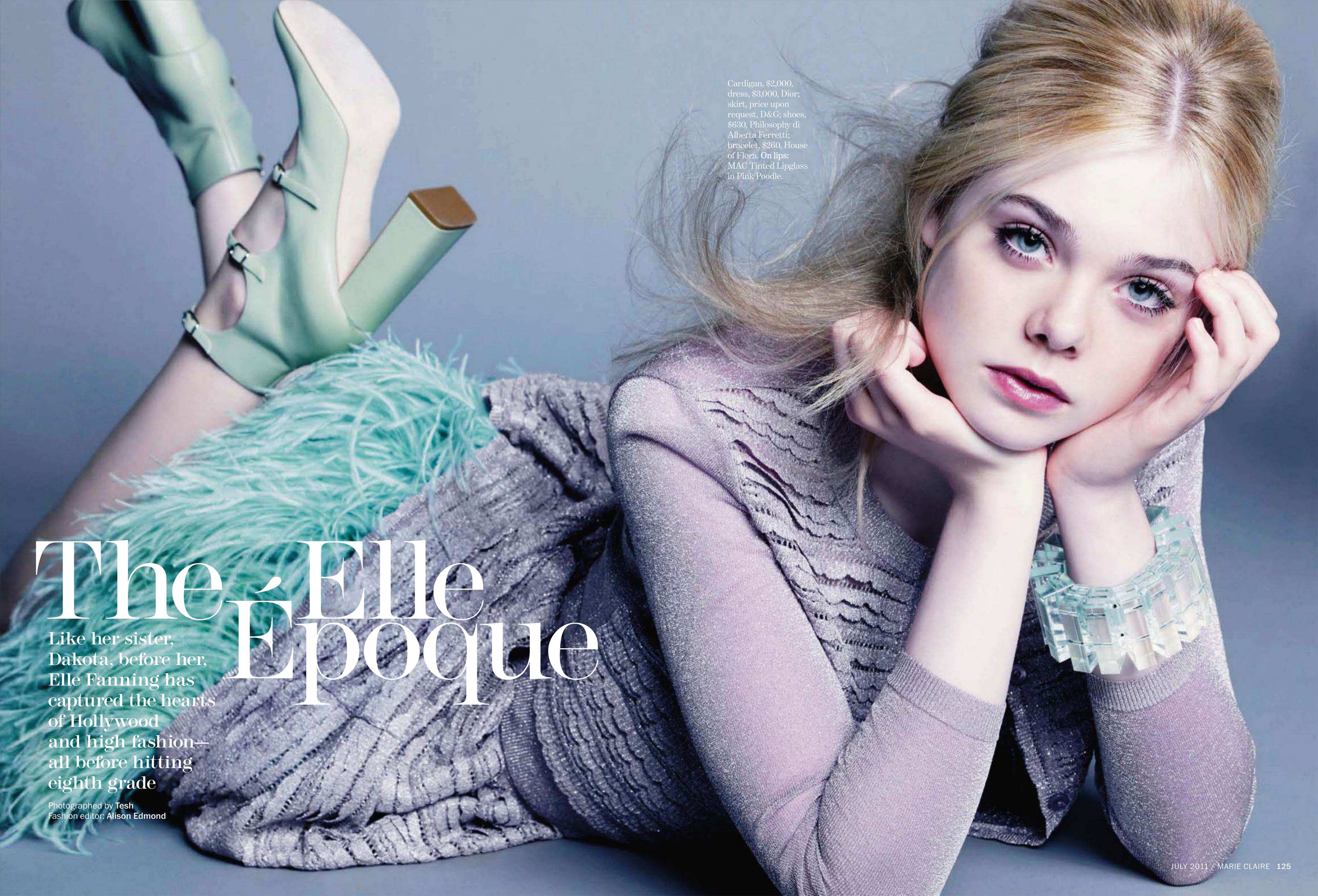 Elle Fanning in Marie Claire