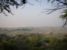 Die schöne Aussicht vom Guesthouse - im Hintergrund die Ziegelei