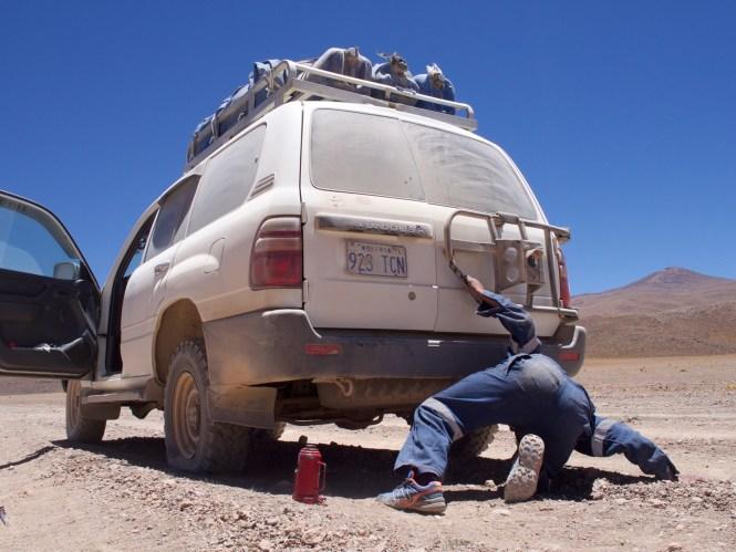 panne auf dem altiplano