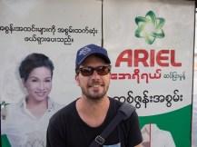 Namensgeschwister in Yangon, Myanmar.