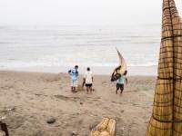 Strohschiffchen der Fischer von Huanchaco, Peru