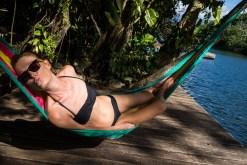(Bis gerade eben) entspannt in der Dschungelhängematte.