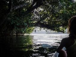 Kajakmeditaion auf dem Rio Dulce.