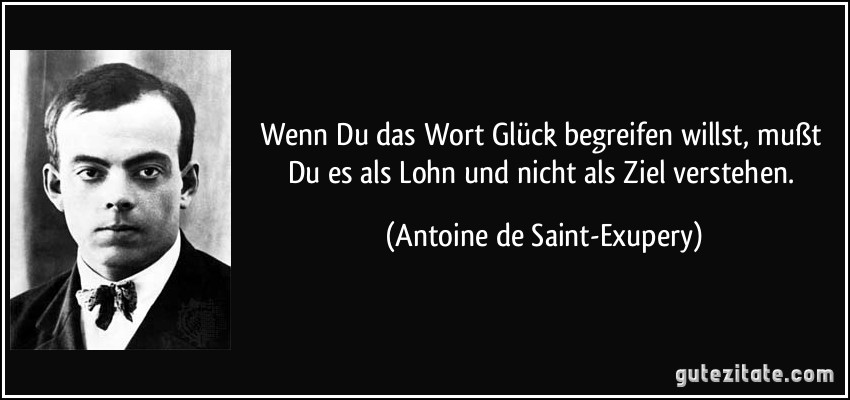 Image Result For Zitate Gluck Exupery