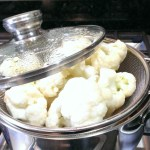 Steaming cauliflower