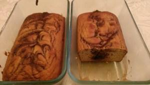 Baked cinnamon bread loaves