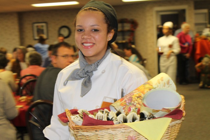 Coyle student at MTC Thanksgiving luncheon