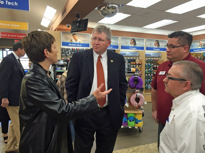 U.S. Rep. Frank Lucas visits Guthrie and Love's Travel Stop