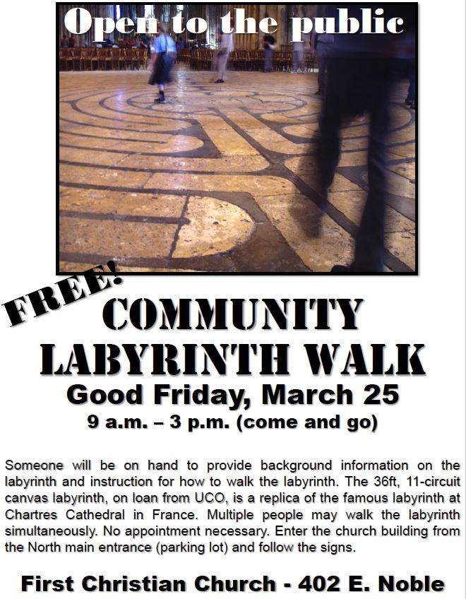 FCC to host Community Labyrinth Walk