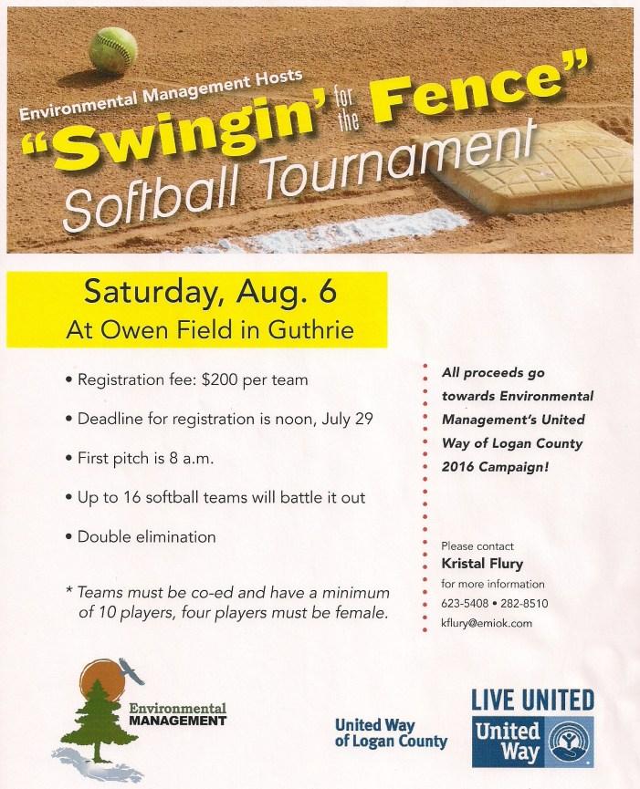 Softball tournament to benefit United Way Logan County