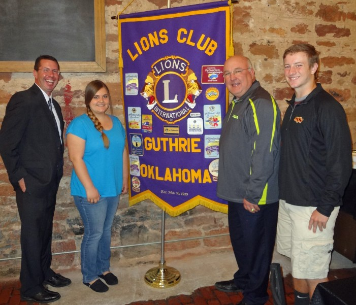 Guthrie Noon Lions Club recognizes Students of the Month