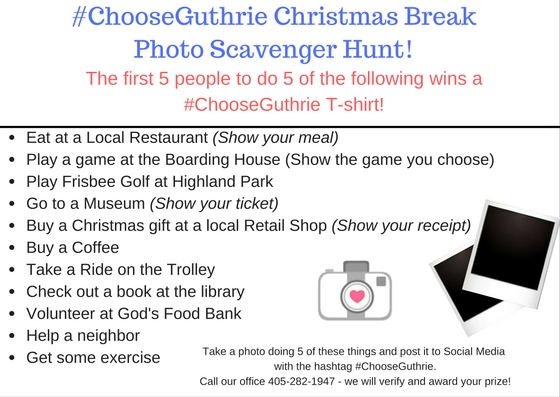 Win a prize with the Christmas Break Photo Scavenger Hunt