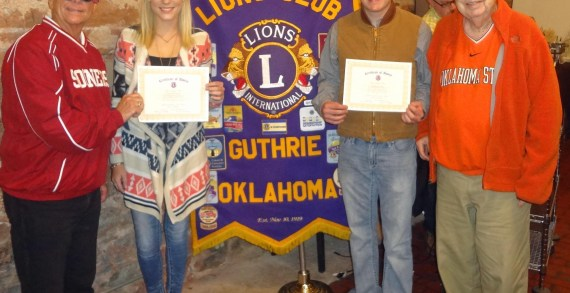 Codding, Berryman named Students of the Month by Lions Club