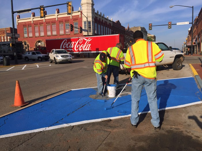 Street crews staying busy with beautification of downtown