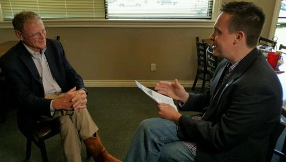 U.S. Senator Inhofe dines and visits with Guthrie business leaders