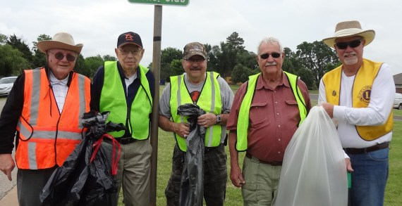Guthrie Lions Club continues Adopt – A – Street program