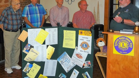 Guthrie Noon Lions Club installs new officers