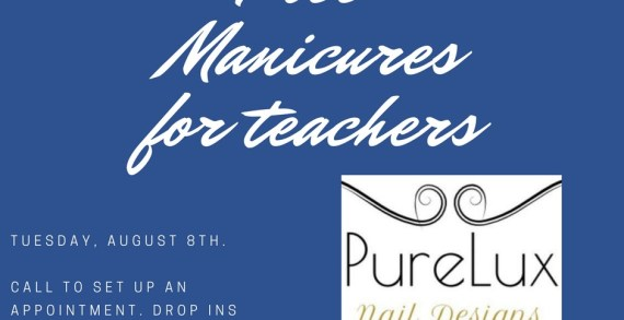 Local business offering free manicures for teachers