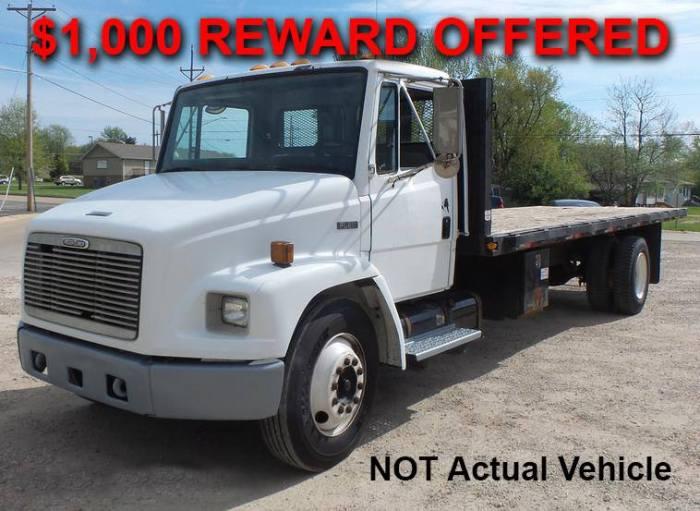 Guthrie business offering reward for information on stolen vehicle