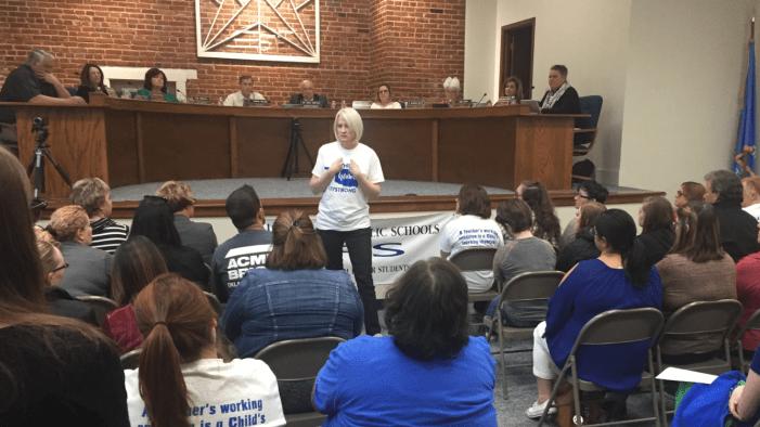 Video: Guthrie school board members support possible teacher walk out
