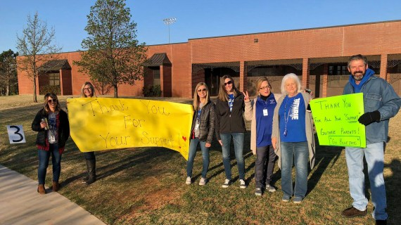 Teachers welcome back students to school following walkout