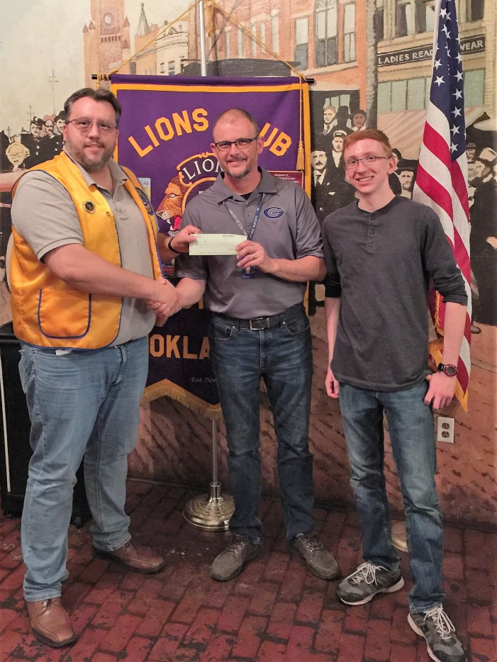 Guthrie Lions Club donates to GHS band, music departments