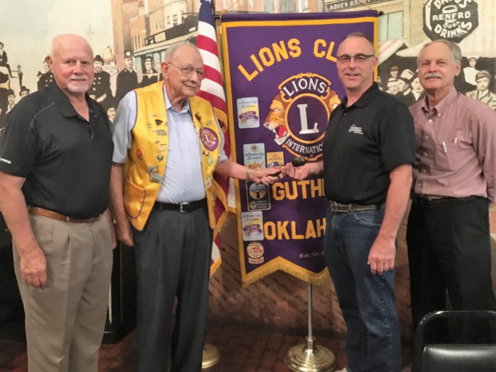 Guthrie Lions Club elects new officers 2018-19