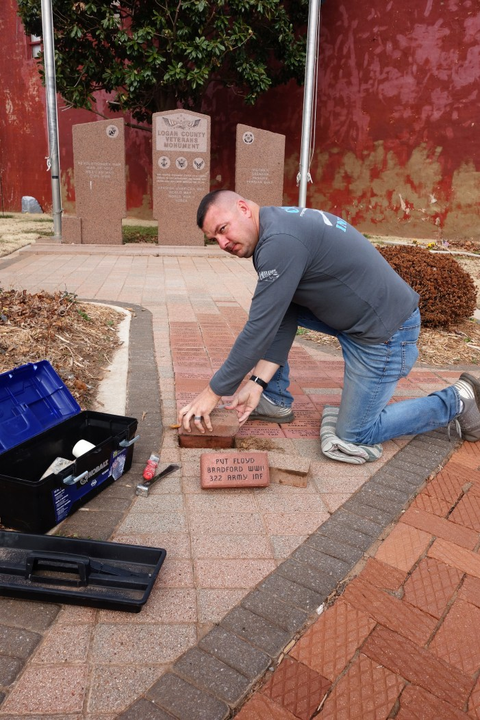 Brick pavers honoring all Veterans; available for sale