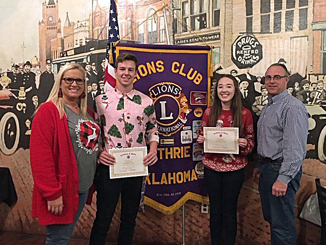 Blakley, Rowley named Lions Students of the Month
